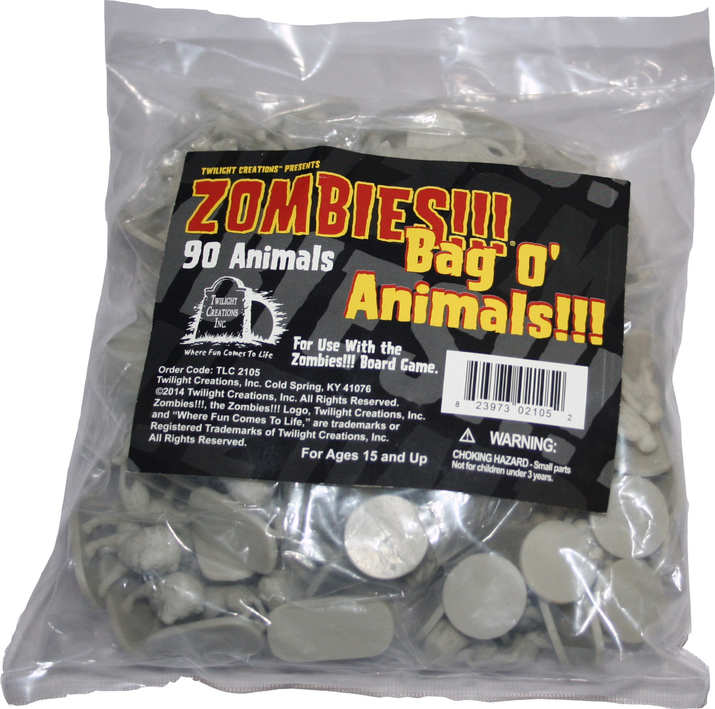 Zombies!!!: Bag O Zombie - Animals Box Front