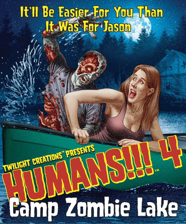 Humans!!!: Camp Zombie Lake Box Front