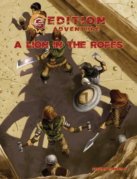 5th Edition Adventures: A Lion In The Ropes Box Front