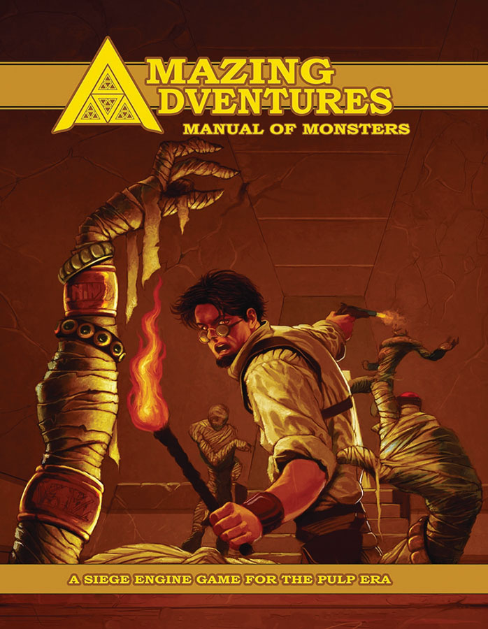 Amazing Adventures Rpg: Manual Of Monsters Hardcover Box Front
