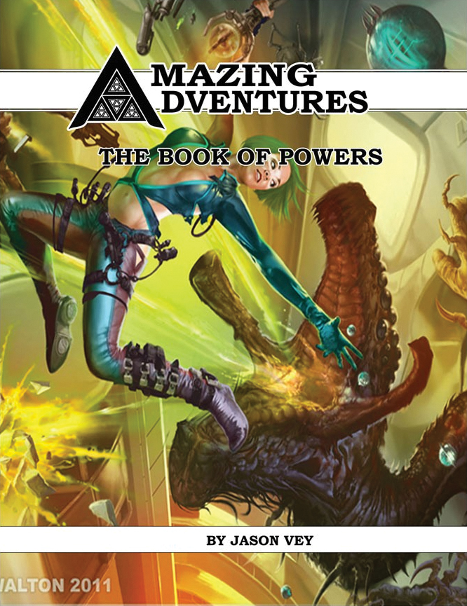 Amazing Adventures Rpg: Book Of Powers Box Front