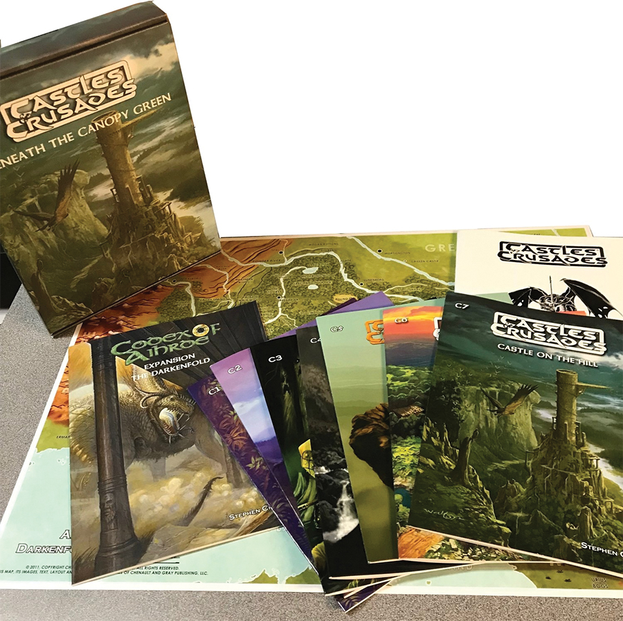 Castles & Crusades: Beneath The Canopy Green Box Set Box Front