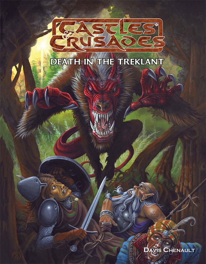 Castles And Crusades Rpg: Death In The Treklant Box Front