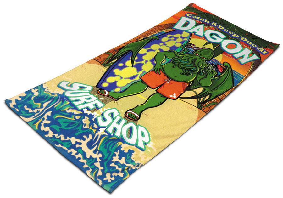 Cthulhu: Dagon Surf Shop Beach Towel Box Front