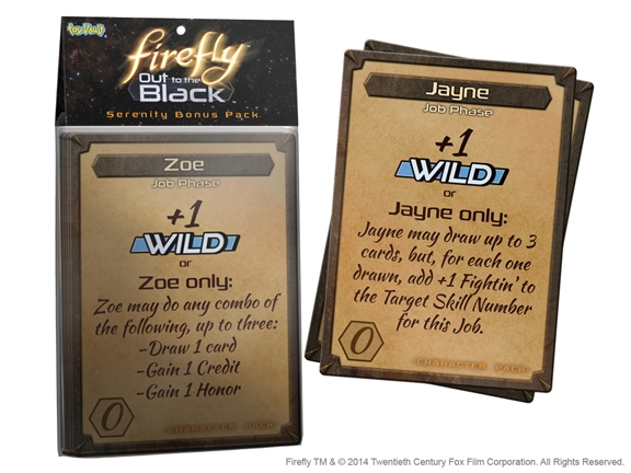 Firefly: Out To The Black Card Game - Serenity Card Pack Expansion Box Front