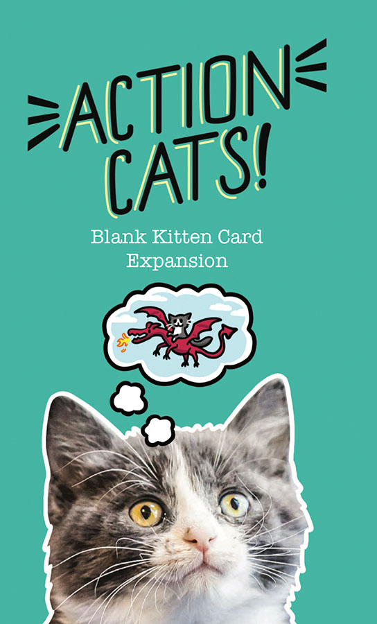 Action Cats! Blank Card Expansion Game Box