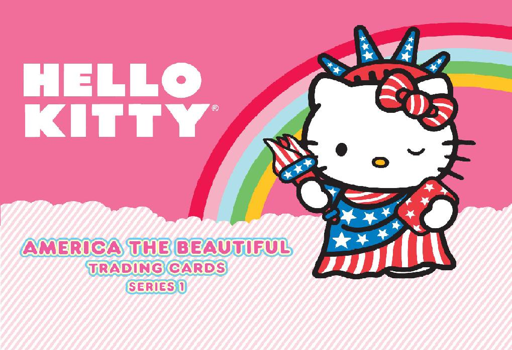 Hello Kitty America The Beautiful Trading Cards Series 1 Pack Box Front