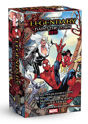 Legendary Dbg: Spider-man Paint The Town Red Expansion Box Front