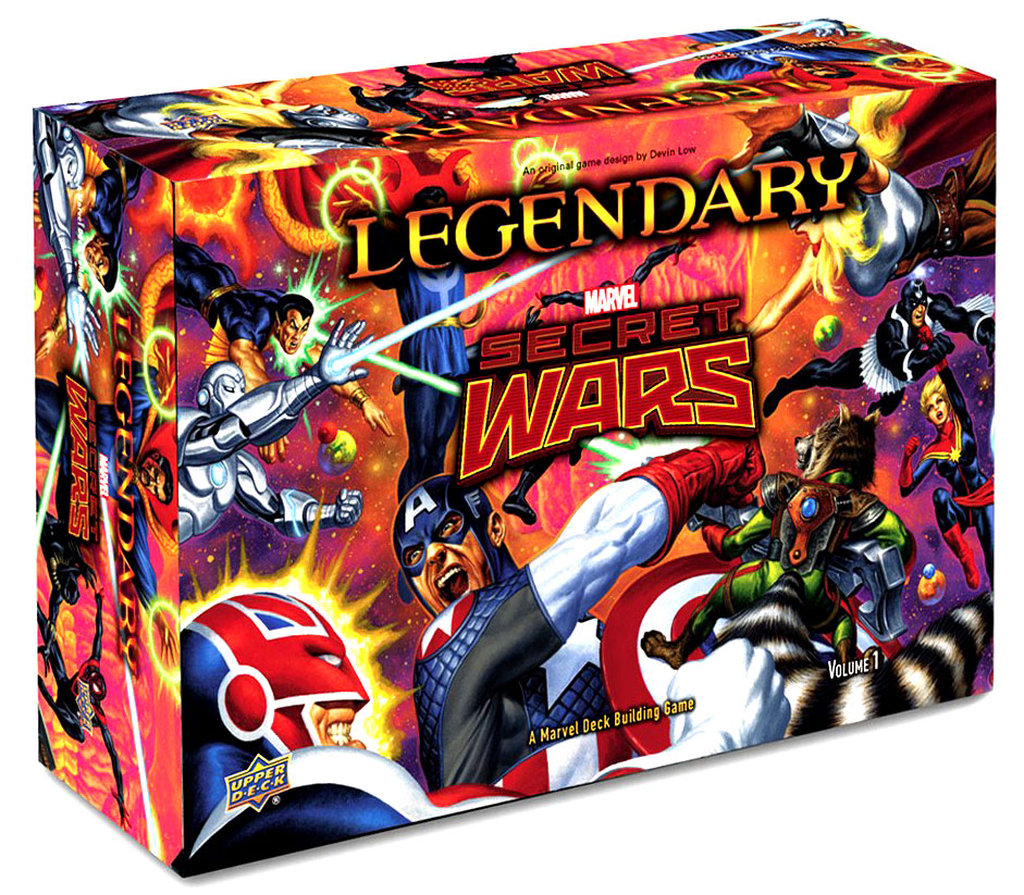 Legendary Dbg: Marvel Secret Wars Box Front