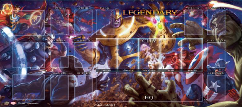 Legendary Encounters Dbg: Thanos Vs. The Avengers Playmat