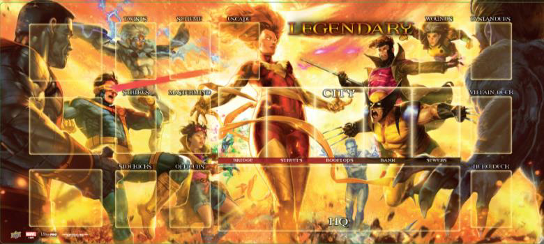 Legendary Encounters Dbg: Dark Phoenix Vs. The X-men Playmat