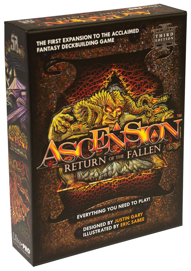 Ascension: Return Of The Fallen Expansion 3rd Edition Game Box