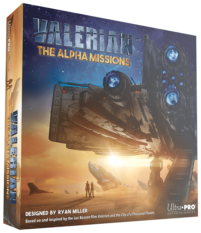 Valerian: The Alpha Missions Board Game Box Front