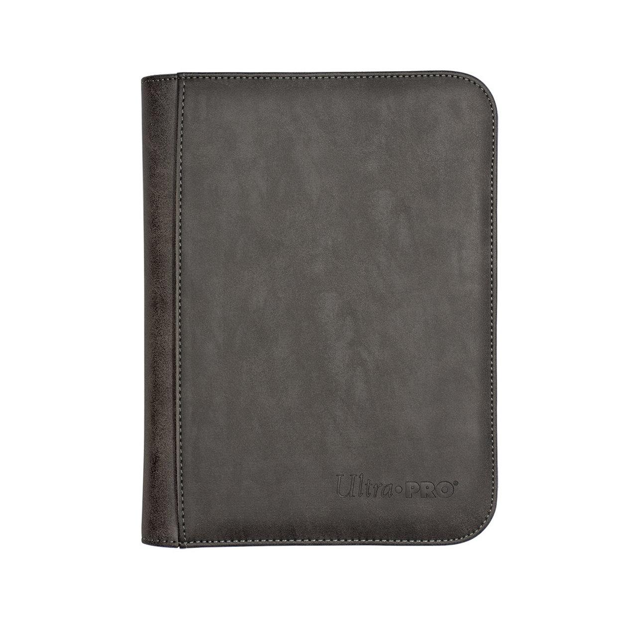 Pro-binder: Premium Zippered 4-pocket Suede Collection - Jet