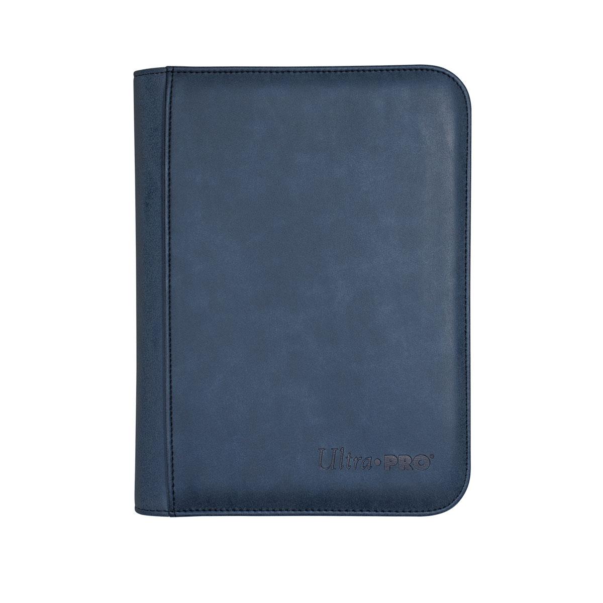 Pro-binder: Premium Zippered 4-pocket Suede Collection - Sapphire