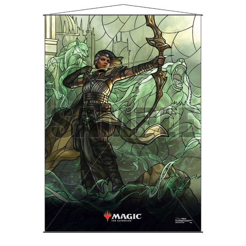 Magic The Gathering: Stained Glass Wall Scroll - Vivien Game Box