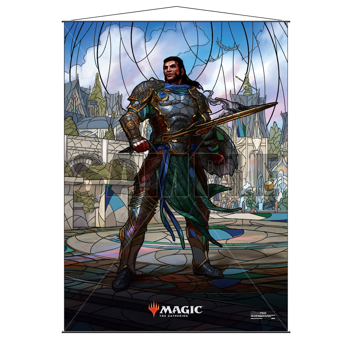 Magic The Gathering: Stained Glass Wall Scroll - Gideon Game Box