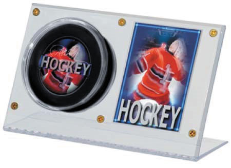 Puck & Card Clear Display Box Front