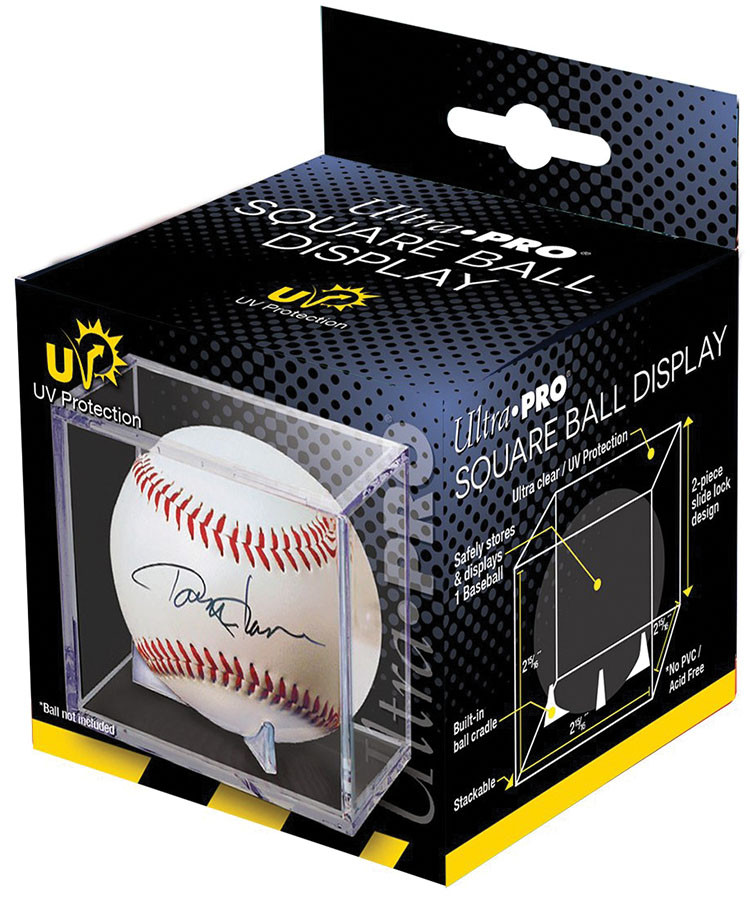 Baseball Clear Square Uv Holder - 6 Pack Box Front