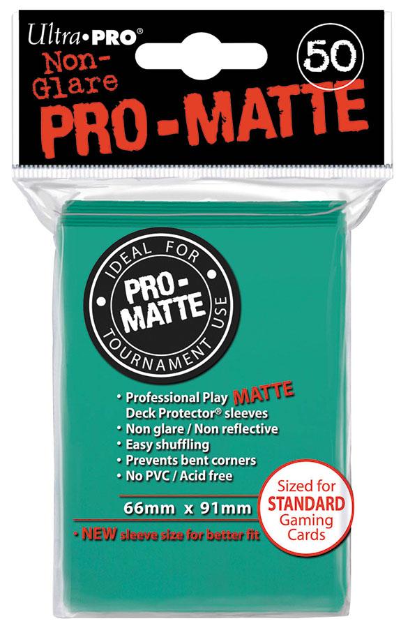 Pro-matte Standard Deck Protectors: Aqua (50) Box Front