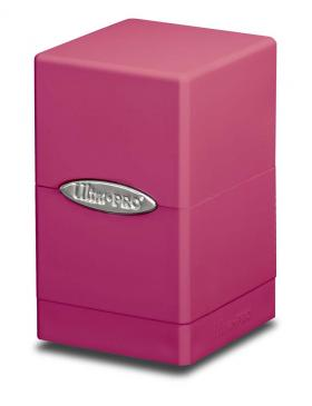 Satin Tower Deck Box: Bright Pink Box Front