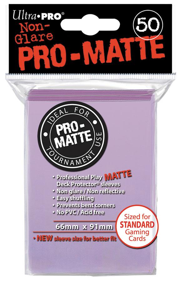 Pro-matte Standard Deck Protectors: Lilac (50) Box Front
