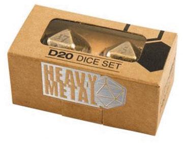 Heavy Metal D20 Dice: Antique Bronze (2) Box Front