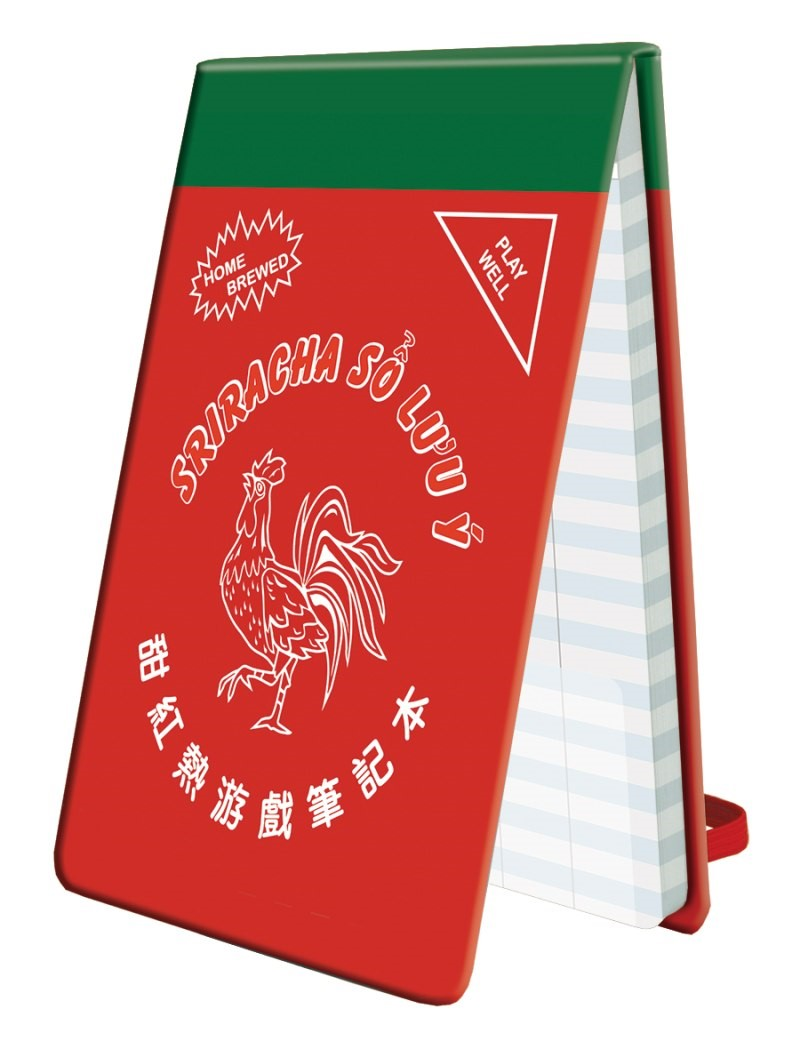 Score Keeping Life Pad: Sriracha Life Pad Box Front