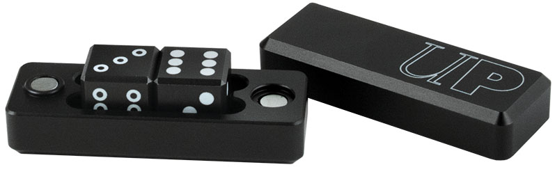 Gravity Dice D6 - 2-dice Set Gravity Dice - Black Box Front