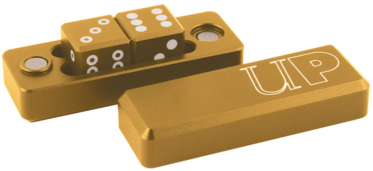 Gravity Dice D6 - Gold Box Front