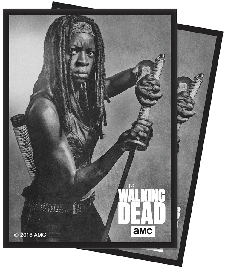 The Walking Dead: Standard Deck Protector Sleeves - Michonne (50) Box Front