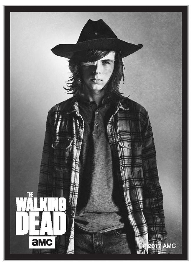 The Walking Dead: Standard Deck Protector Sleeves - Carl (50) Box Front