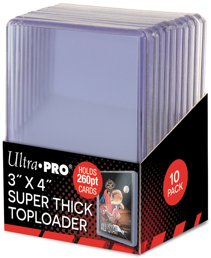 Toploader: 3in X 4in Super Thick 260pt (10) Box Front