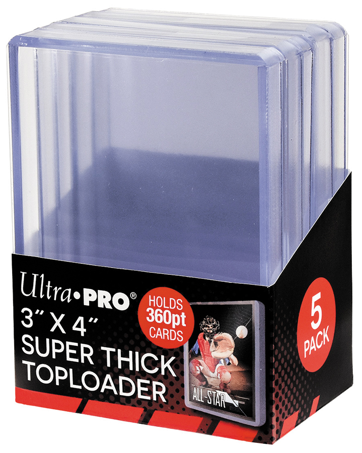 Toploader: 3in X 4in Super Thick 360pt (5) Box Front