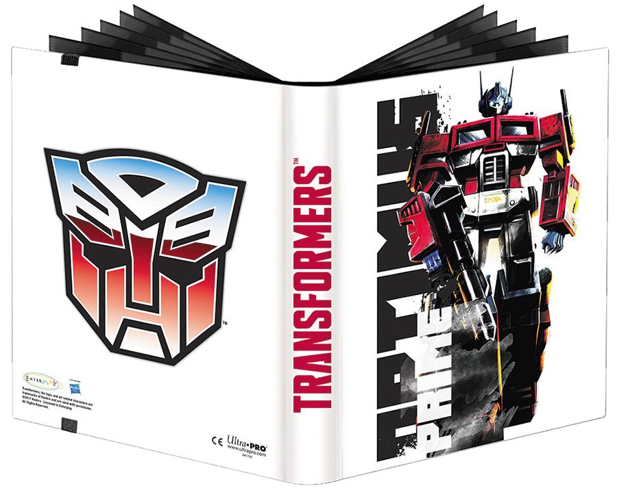 Transformers: 9-pocket Full-view Pro-binder - Optimus Box Front
