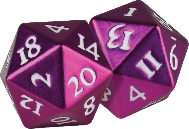 Heavy Metal D20 Dice: Pink (2) Box Front