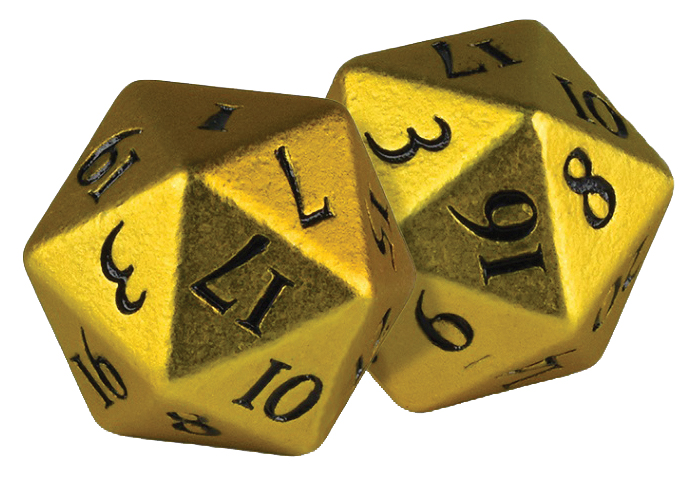 Heavy Metal D20 Dice: Yellow (2) Box Front