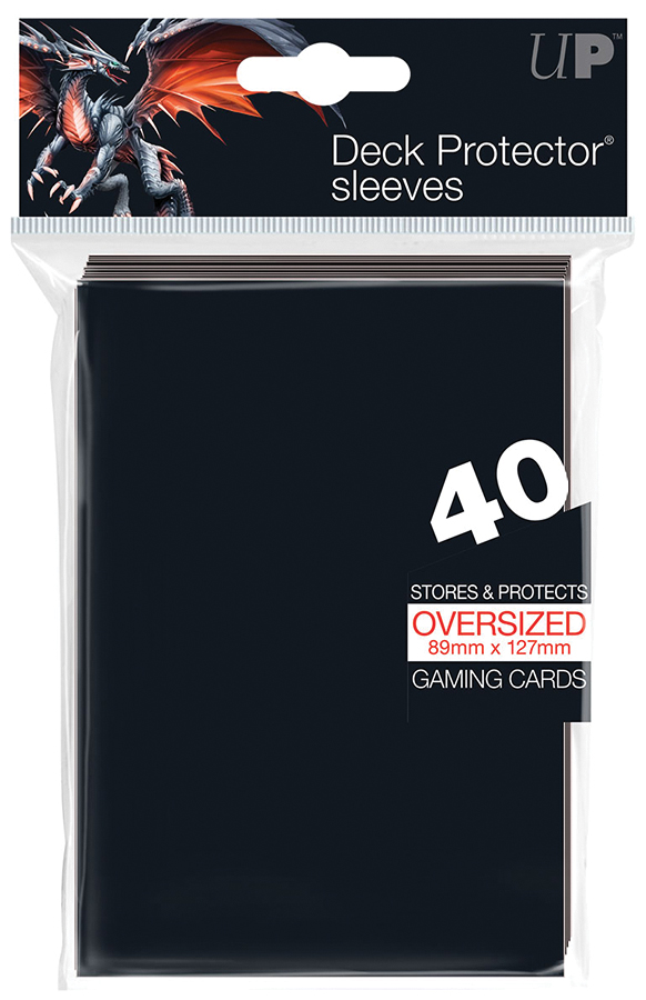 Oversized Deck Protectors: Black (40) Box Front