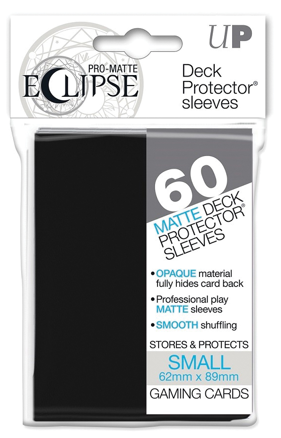 Pro-matte Eclipse Small Deck Protector Sleeves: Black (60ct) Box Front