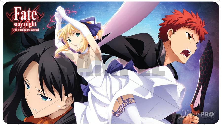 Fate Stay Night Play Mat - Rescuing Saber Box Front