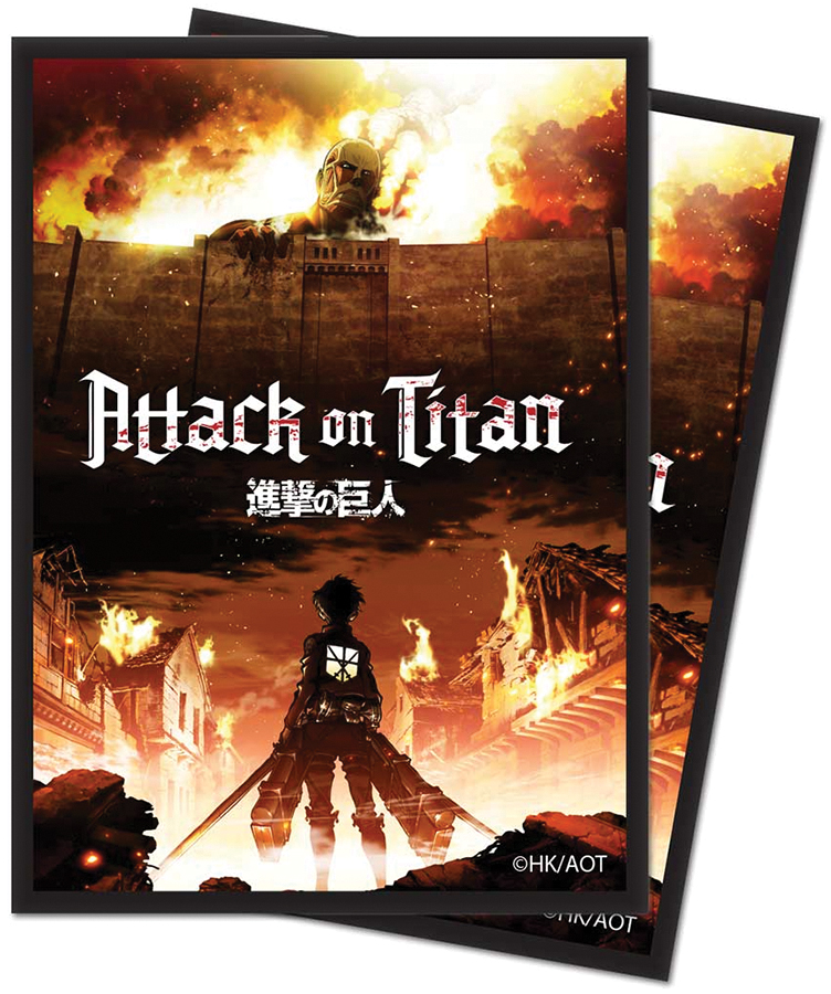 Attack On Titan: Standard Deck Protector Sleeves - The Beginning (65) Box Front