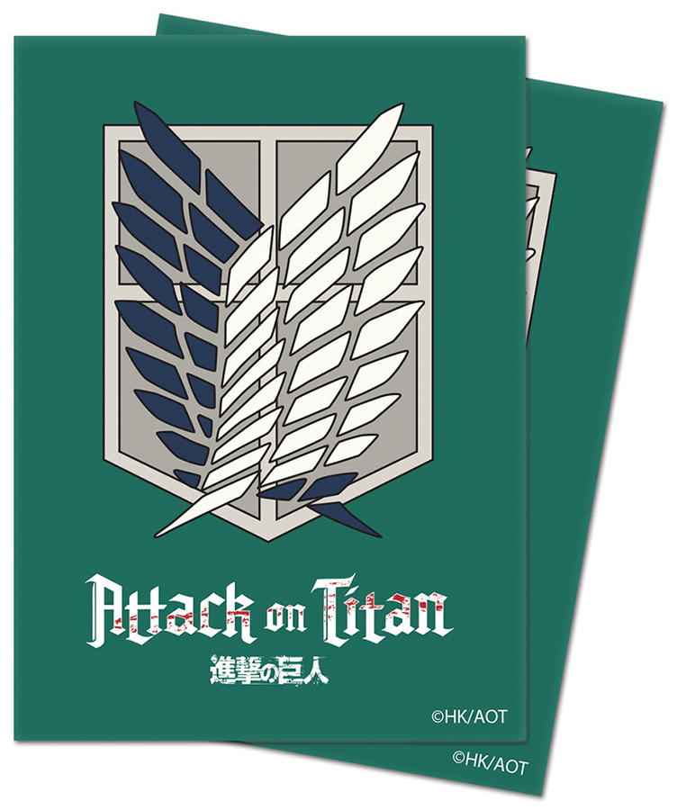Attack On Titan: Standard Deck Protector Sleeves - Survey Corps (65) Box Front
