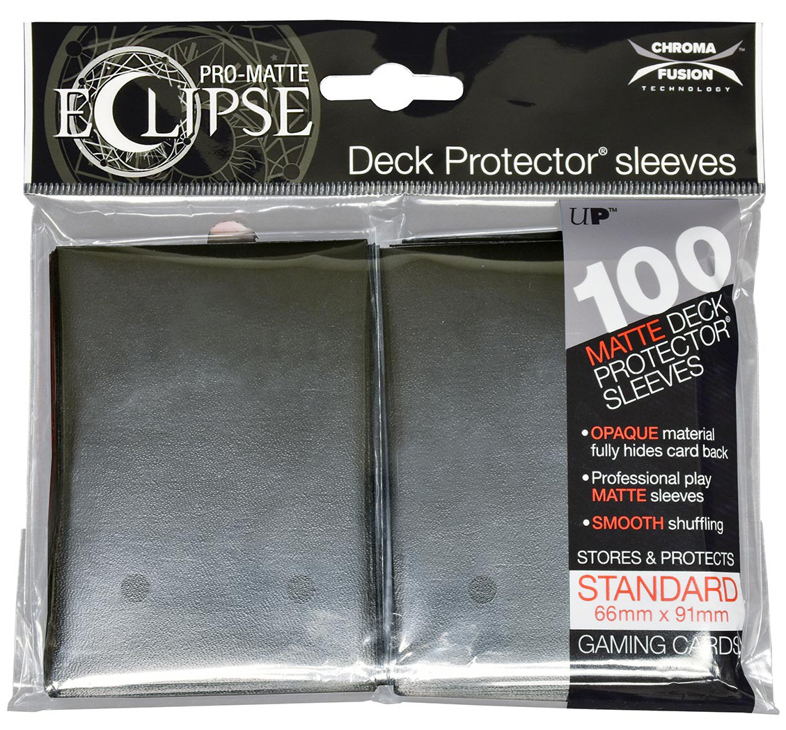 Pro-matte Eclipse 2.0 Standard Deck Protector Sleeves: Jet Black (100) Box Front