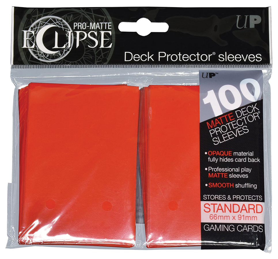 Pro-matte Eclipse 2.0 Standard Deck Protector Sleeves: Apple Red (100) Box Front