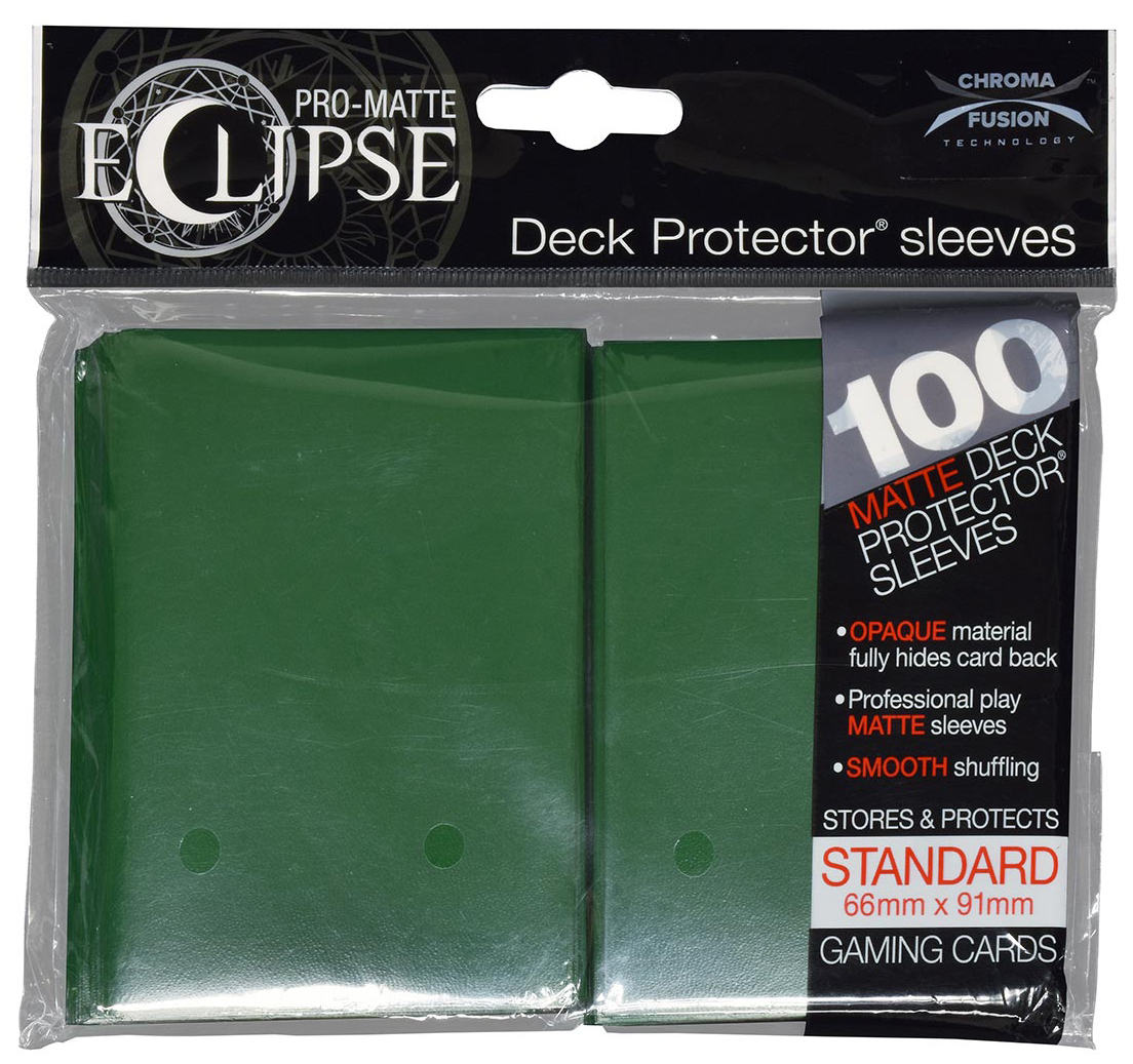 Pro-matte Eclipse 2.0 Standard Deck Protector Sleeves: Forest Green (100) Box Front