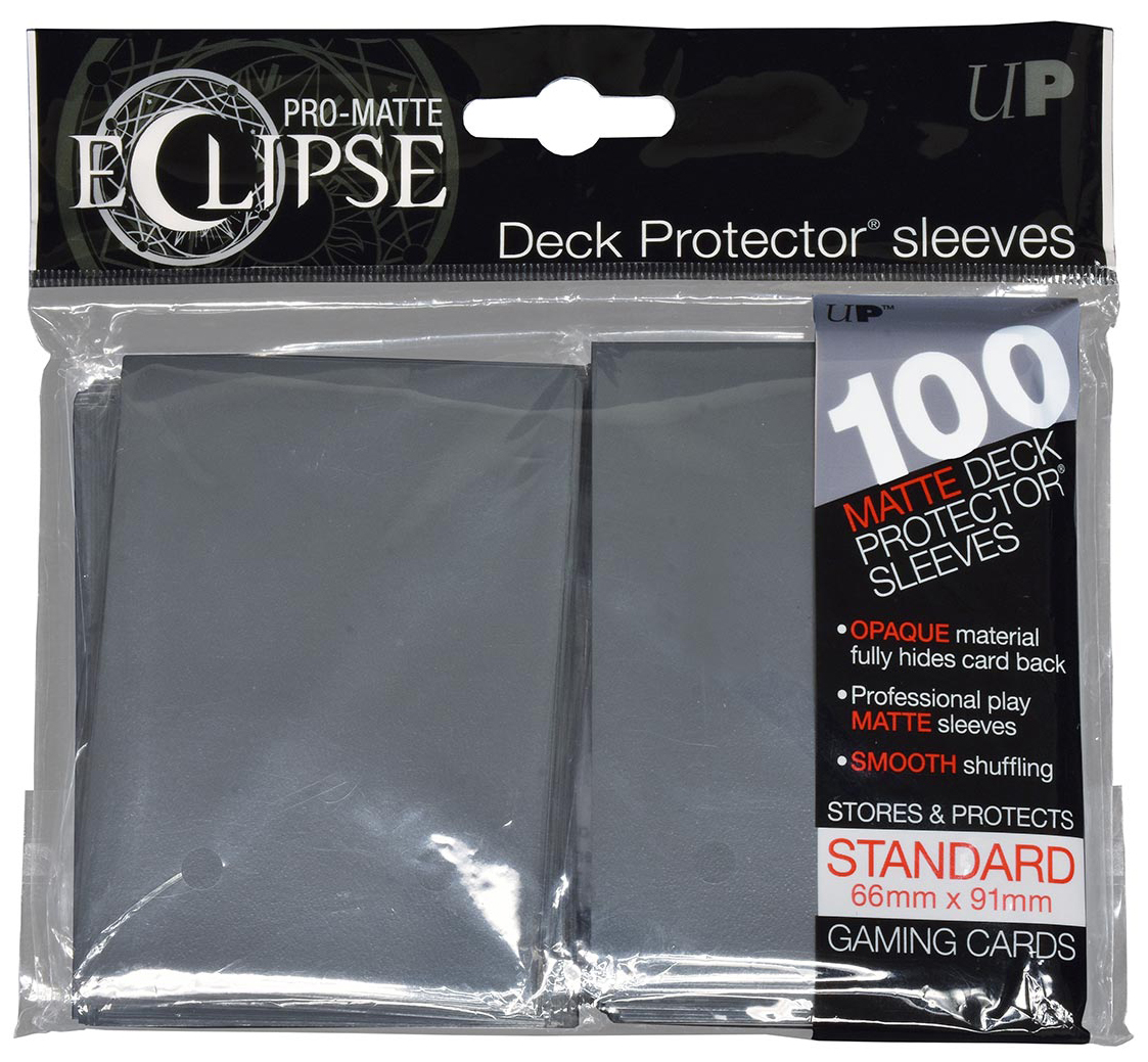 Pro-matte Eclipse 2.0 Standard Deck Protector Sleeves: Smoke Grey (100) Box Front