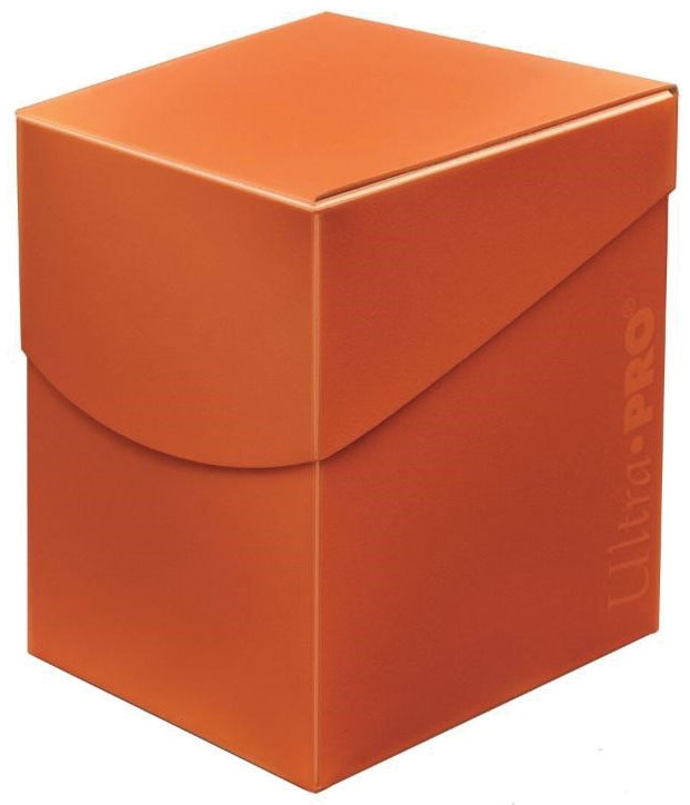 Pro 100+ Eclipse Deck Box: Pumpkin Orange Game Box