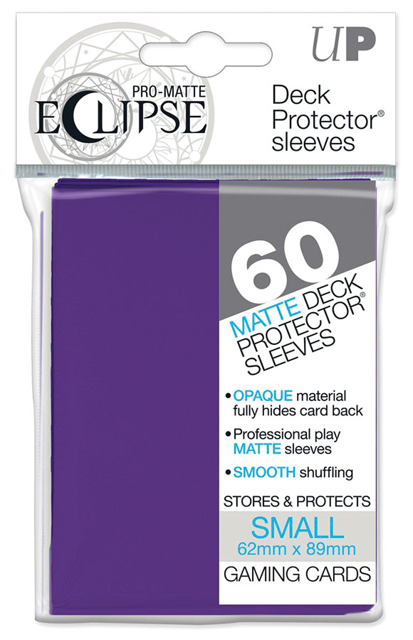 Pro-matte Eclipse Small Deck Protector Sleeves: Royal Purple (60) Game Box