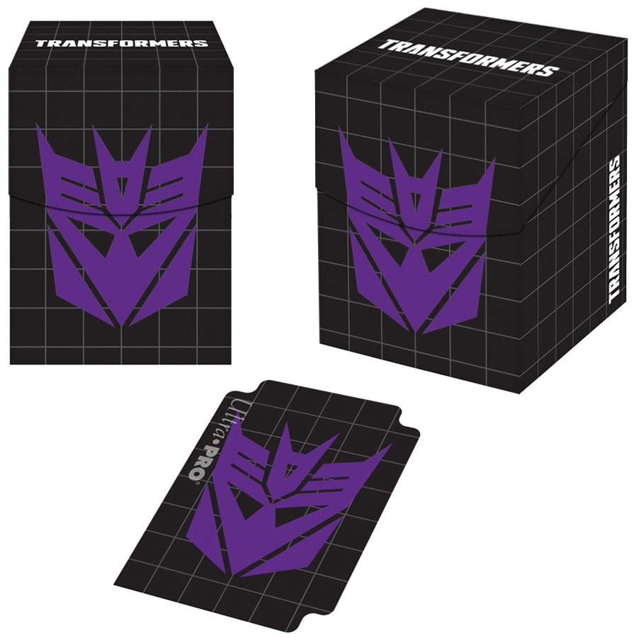 Transformers: Pro 100+ Deck Box - Hasbro Decepticons Game Box