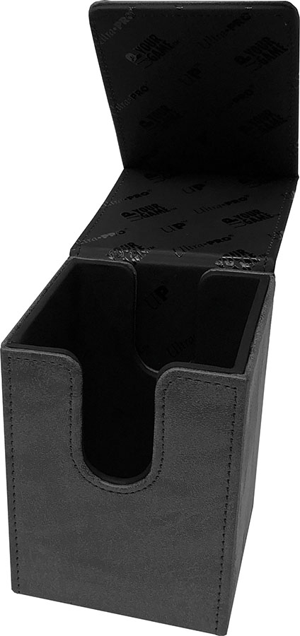 Alcove Tower Flip Deck Box: Suede Collection - Jet Game Box